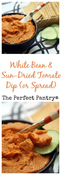 White bean and sun-dried tomato dip also makes a great sandwich spread! From The Perfect Pantry; sounds delicious!  #vegan #glutenfree