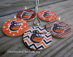 Baltimore Orioles Inspired Necklace Baltimore by HeartsintheClouds, $15.99