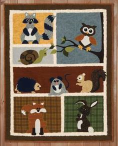 Quilt Patterns On Pinterest Wildlife Quilts Baby Quilts