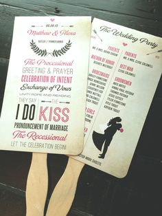 Chevron Wedding Program Fans by TheDesignBrewery on Etsy