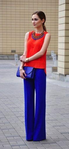 pantalon azul rey