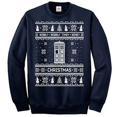 Inspired DOCTOR ONG SLEEVE sweatshirts Funny Christmas - Adults Jumpers- Small - NAVY (ALL Sizes)