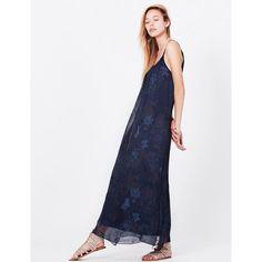 Silk Loose Fit Floral Print Cami Maxi Dress with Side Slit Tie Dye Skirt, Designer Dresses, Floral Prints, Silk, Elegant, Loose Fit, Kisses, Women's Dresses, Beautiful