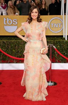 Rose Byrne arrives at the 19th Annual Screen Actors Guild Awards at the Shrine Auditorium in Los Angeles on Jan. 27, 2013.