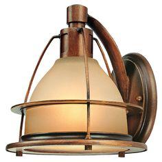 Troy B2051SBZ Bristol Bay 8 Inch Tall 1 Lamp Nautical Light Sconce - TRO-B2051SBZ