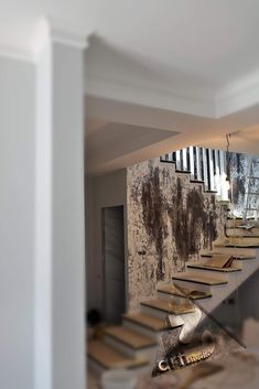 How elegant your home will look with a decorative plaster finishes... Decorative Plaster, Stairways, It Is Finished, Traditional, Contemporary, Elegant, Interior, House, Painting