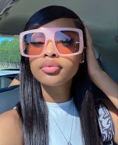 Baddie Hairstyles, Black Girls Hairstyles, Pretty Black Girls, Beautiful Black Women, Beautiful Baby Girl, Beautiful Models, Sunglasses For Your Face Shape, Light Skin Girls, Ray Bans