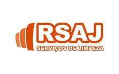 Logomarca para RSAJ. Empresa que atua no ramo de limpeza e conservação.