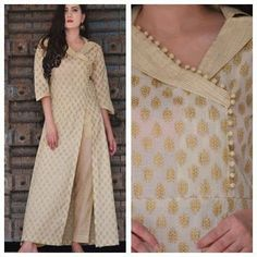 41 Latest neck designs for kurtis with collar Stylish collar neck patterns Bling Sparkle Salwar Designs, Silk Kurti Designs, Kurta Designs Women, Kurti Designs Party Wear, Long Kurta Designs, Latest Kurti Designs, Plain Kurti Designs, Salwar Suit Neck Designs, Neck Designs For Suits