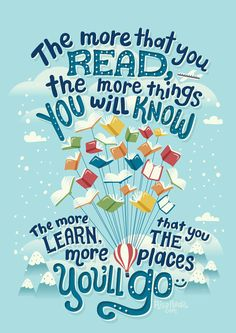 12 book quotes beautifully illustrated by Risa Rodil I Love Books, Good Books, Books To Read, My Books, Book Week, Lectures, Lettering, Typography, Love Reading