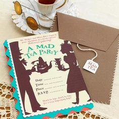 Alice in Wonderland Party Invitations  Remind guests that they can't be late for this very important date with this colorful handmade invitation.  Learn more about this project.