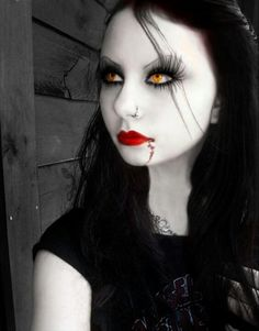 doll like gothic makeup