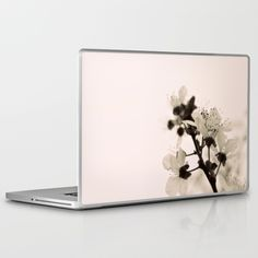 Blossoms+Monochrome+Laptop+&+iPad+Skin+by+ARTbyJWP+-+$30.00