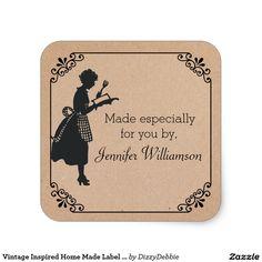 Vintage Inspired Home Made Label Sticker