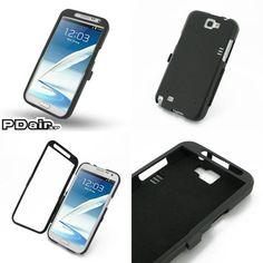 PDair Aluminum Metal Case for Samsung Galaxy Note II GT-N7100 - Open Screen Design (Black)