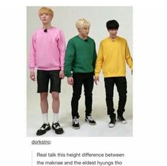 |They're so short, it's adorable.| (From left to right) Sanha, JinJin, MJ. - ASTRO