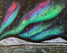 Kathy's AngelNik Designs & Art Project Ideas: Northern Lights Winter Landscape Art Lesson This round-up of winter art projects for kids makes it easy to get creative on rainy days and snow days. These winter painting ideas make winter art fun! Winter Art Projects, School Art Projects, Teen Art Projects, Winter Project, Craft Projects, Aurora Borealis, Landscape Art Lessons, Landscape Photos, 4th Grade Art