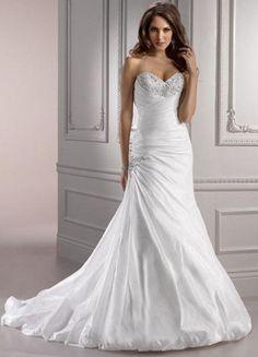 Maggie Sottero Wedding Gown Aimee Style V7136 Size 12 in Diamond White ca9a6e8a0f28