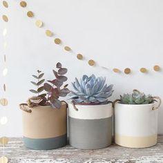 Ceramic Planter Pot With Hanging String