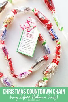 25 Most Clever & Creative Ways to Use Up Halloween Candy: Candy Garland
