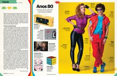 Especial Retromania. Época. Anos 80. Design: Alexandre Lucas.