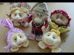 Кукла неваляшка из колготок. Чулочная техника. Doll from stocking, Roly-poly doll. - YouTube