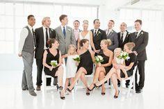 groomsmen mismatched but matching ties perhaps?