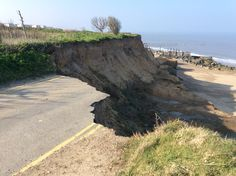 Coastal erosion, Happisburgh, Norfolk UK