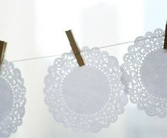 Doily garlands | nooshloves