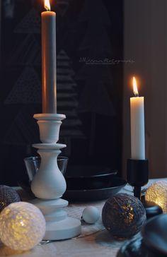 PIKKUPIRTIN // LOTTA candles on the table.