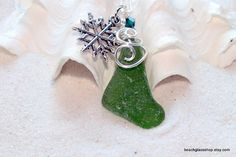 Sea Glass Beach Glass Kelly Green Christmas by beachglassshop, $30.00 FREE SHIPPING
