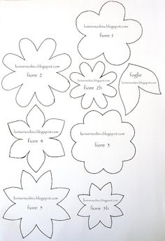 Paper and felt flower templates