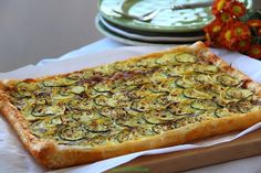 With the holidays round the corner, I am always looking for delicious, easy to make appetizers and side dishes. My zucchini and ricotta tart is one of them. It is light, creamy and easy to mak… Lemon Puff, Easy To Make Appetizers, Yellow Squash And Zucchini, Egg Wash, Summer Squash, Dish Towels, Ricotta, Vegetable Pizza, Entrees