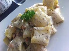 Paccheri with Salmon Truffles and Gorgonzola