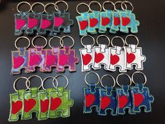 Autism inspired keychains