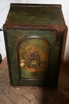 Victorian Iron Safe - Gorgeous patina & door detail