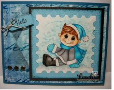 Stop by our blog today http://digitaldelightsbyloubyloo.blogspot.com/ and see Larelyn Sue White Sartini Hostess Monday post. She shows how to making this stunning marble background using Copics. Project uses Snow Buddy from www.digitaldelightsbyloubyloo.com