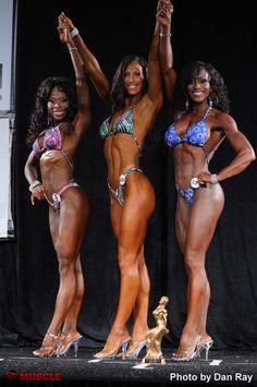 On the Podium. Bodybuilding Competition, Bikinis, Swimwear, Club, Fitness, Bathing Suits, Swimsuits, Bikini, Bikini Tops