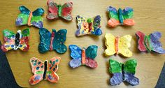 that artist woman: ..............Clay Butterflies use standard clay or air dry clay