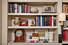 From Nell Hill's: How to style bookcases that tell a story