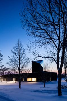 Vancouver-based Shape Architecture has unveiled the charred-wood South Haven Centre for Remembrance within a municipal cemetery on the outskirts of the city of Edmonton, Canada. Black Cladding, Black Building, David Chipperfield Architects, South Haven, Charred Wood, Built In Furniture, Concrete Building, Steel Panels, Black Exterior