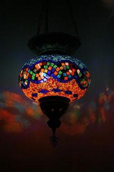 Turkish Twist Mosaic Hanging Lamp