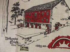 1950s  PENNSYLVANIA DUTCH  Historical Barn by lostnfounddrygoods, $18.00