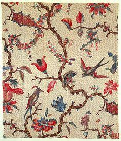 design-is-fine:  Textile design, 1775-1784. block-printed...