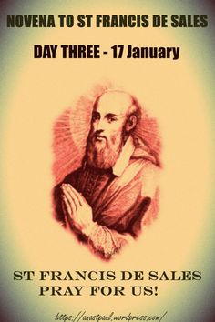 """Novena to St Francis de Sales  Day Three  """"I desire very little and what I do desire I desire very little; I have hardly any desires but if I were to begin my life all over again...........#mypic"""