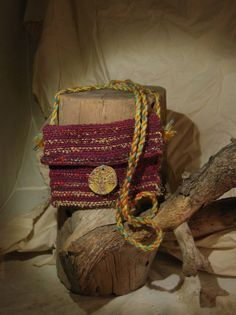 Silk and cotton sling bag tree of life pendant by treehugging, $12.50