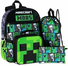 Minecraft Backpack, Minecraft Mobs, Cosy House, Geometric Type, Spiderman Art, Backpack Brands, Creepers, Kids And Parenting, Key Rings