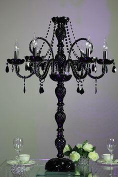 ZT-180 Black crystal glass candelabra H100*W69cm  Q2180.00 o $312.00