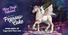 You've seen it and marveled at its beauty! Now is your chance to watch and learn how to create the amazing Pegasus cake that has been taunting us through the computer screen for months!
