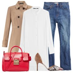 - Elevate a cropped jean with a longline button-down tunic and classic camel…